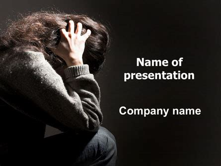 depression powerpoint template depression presentation template for powerpoint and