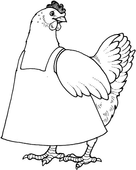 free coloring pages of little red hen sequencing