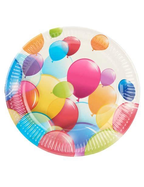palloncini volanti 10 piatti con palloncini volanti 23 cm su vegaooparty