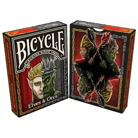 printable elf playing cards elves orcs playing cards fantasy deck bicycle by nat