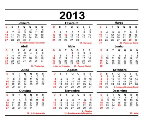Calendario G D Calend 225 2013 Datas Comemorativas E Fases Da Lua