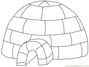 igloo coloring page coloring pages igloo peoples gt royal family free