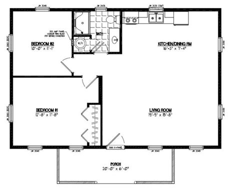 Cabin Floor Plans With Garage by 24x36 Pioneer Certified Floor Plan 24or1202 Custom