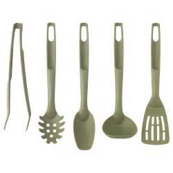 speciell 5 piece kitchen utensil set dark green ikea