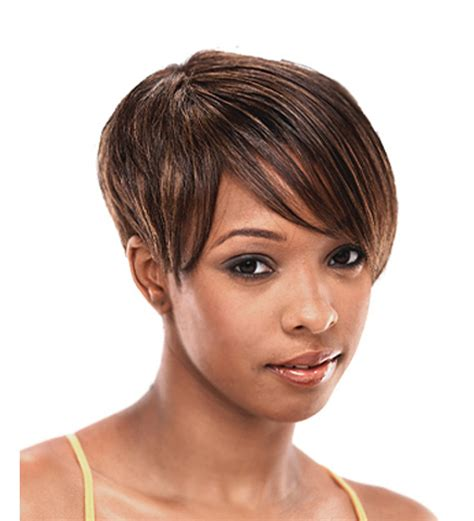 Pictures Of Short Weavons | weave cap extensions on short hair short hairstyle 2013