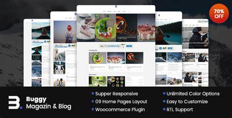 blogger zeitschrift buggy zeitschrift blog wordpress themes webdesign
