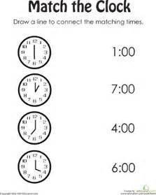 clock practice worksheet education com