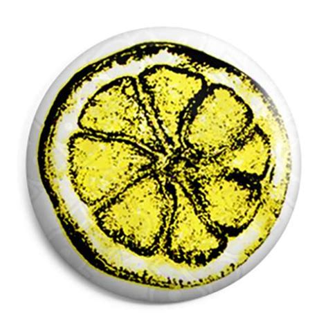 The Stone Roses   Lemon Logo Button Badge, Fridge Magnet