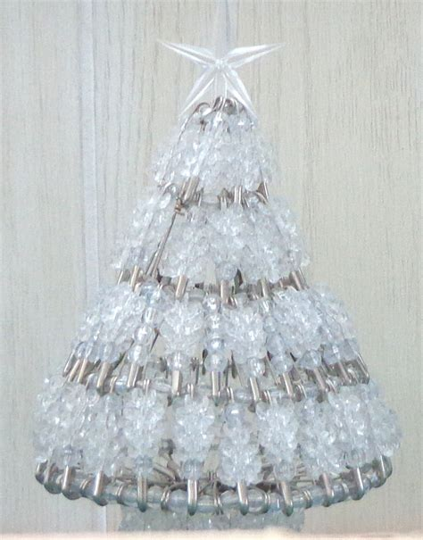 instructions for vintage safety pin christmas trees beaded tree kits