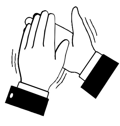 coloring pages of clapping hands black white clapping hands clip art at clker com
