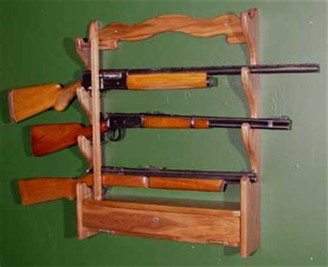 diy how to make a wall hanging gun rack plans free
