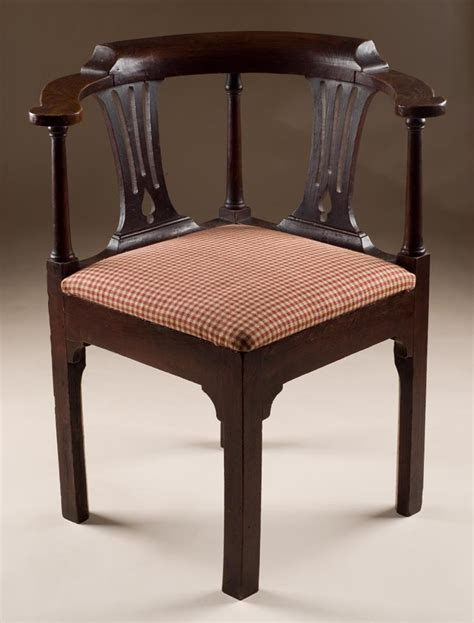 antique elm corner chair