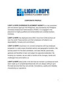 light amp hope corporate profile