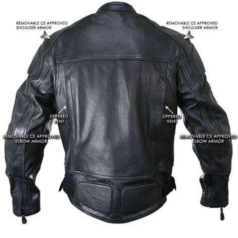 motorcycle jackets with armor cowhide black leather motorcycle jacket with level 3