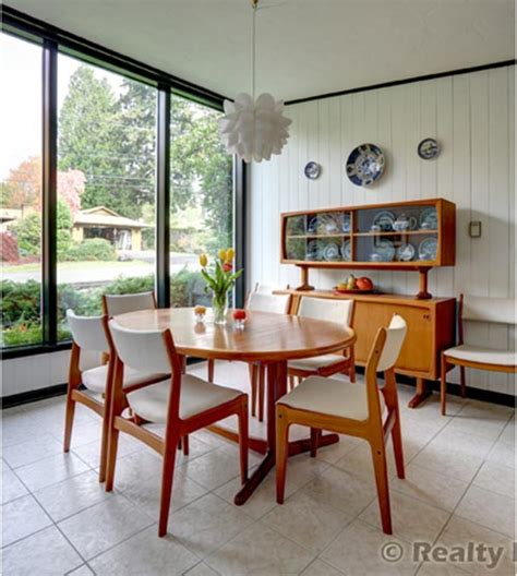 mid century dining room mid century modern portland time capsule house beautiful details 16 photos retro renovation