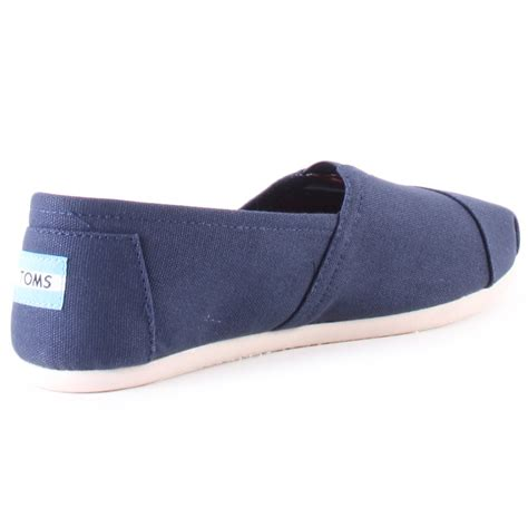 toms 2a07 navy canvas slip on mens shoes