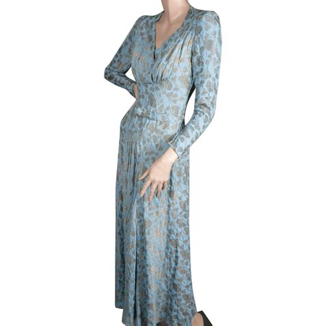 chagne silk gowns 1930 s metallic gold silk matelasse gown small from giddy