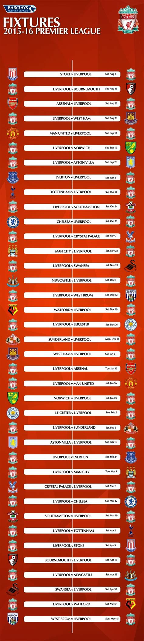 printable liverpool schedule pictures 2017 2018 premier league schedule best games