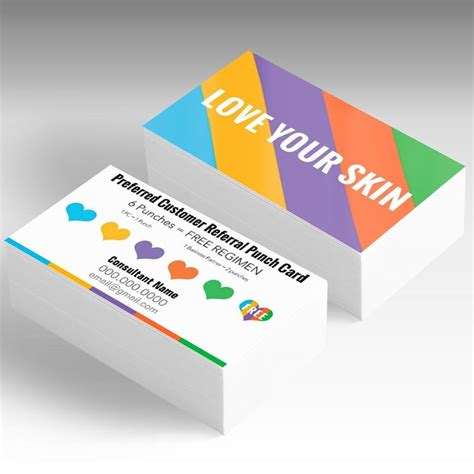 Rodan And Fields Business Cards Template by Rodan And Fields Preferred Customer Referral Punch Card