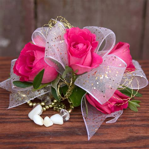 Corsage Flowers by Pink White Ribbon Corsage A Better Bloom Florist