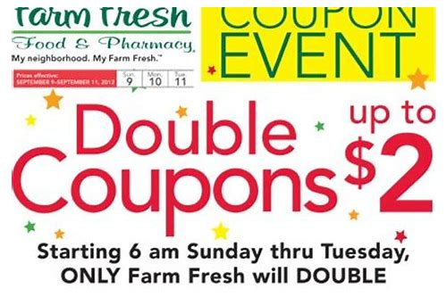 double coupon farm fresh