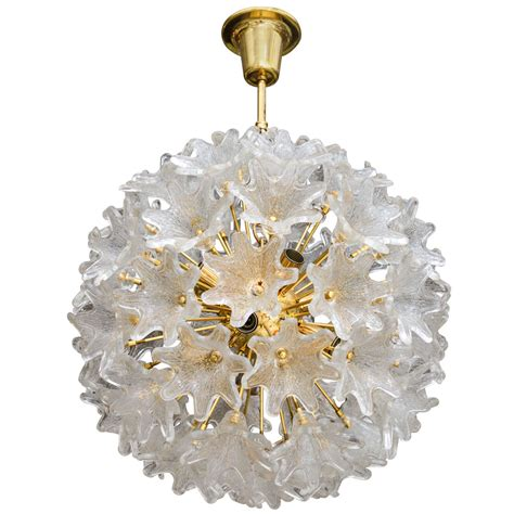 Flower Pendant Chandelier European Flower Sputnik Chandelier At 1stdibs