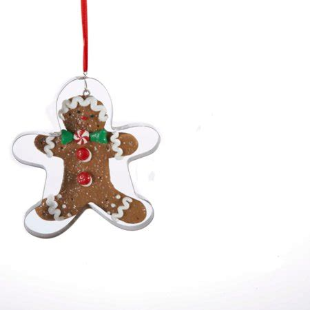 gingerbread ornament out of brown paper kurt adler 4 quot gingerbread kisses cookie cutout with tie ornament brown