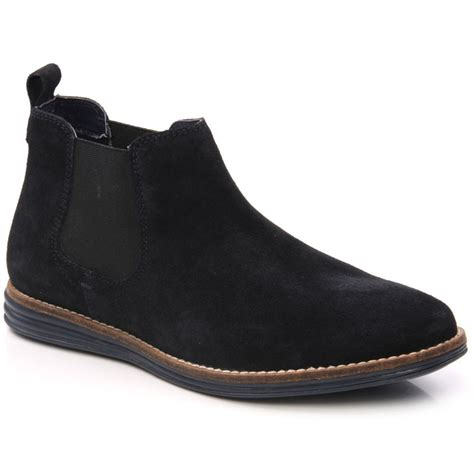 mens casual suede boots unze gs4669 mens casual suede leather chelsea boots size