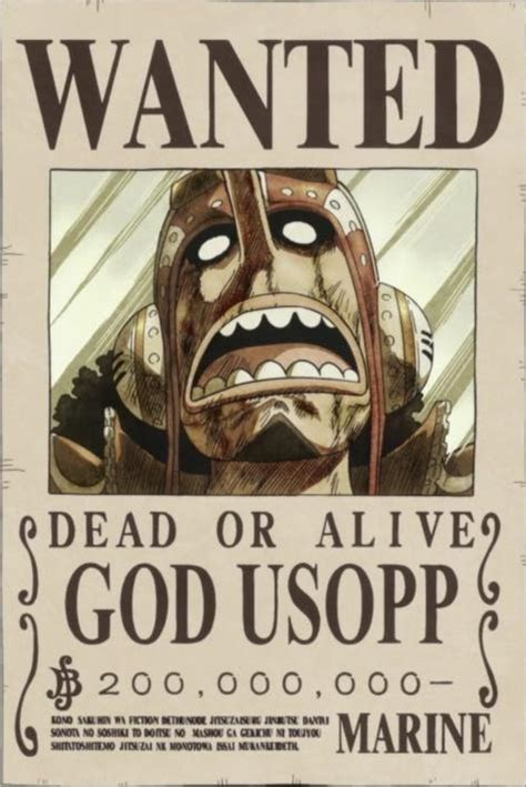 membuat poster buronan one piece image god usopp s wanted poster png one piece wiki