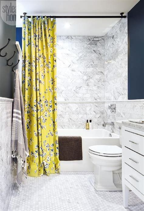 bathroom curtains and shower curtains curtains ideas 187 blue and yellow shower curtain