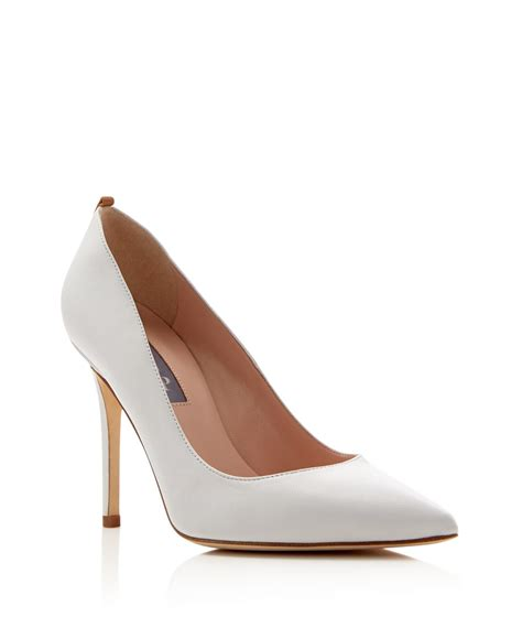 white pointed toe high heels sjp by fawn pointed toe high heel