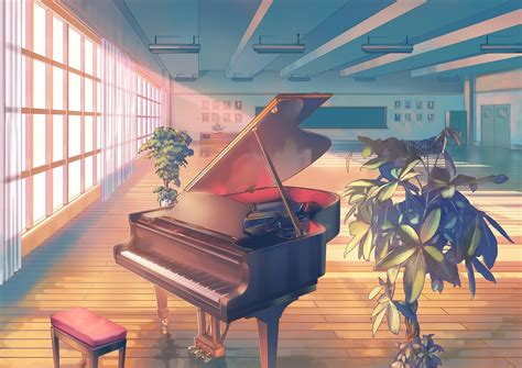 anime piano anime piano classroom wallpapers hd desktop and mobile