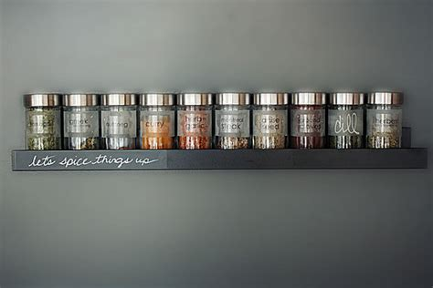 Modern Spice Rack a modern wall mounted spice rack popsugar home