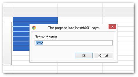 how to make a javascript event calendar event calendar widget for javascript php daypilot code