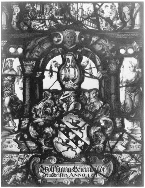 heraldic panel with the arms of wolffgang grienwaldt