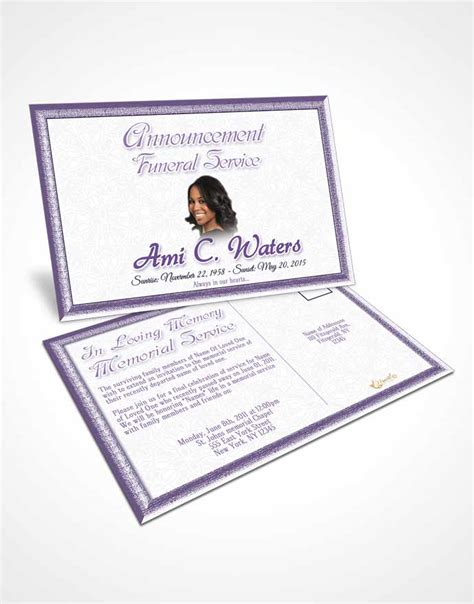 memorial card for funeral o connor template bifold order of service obituary template brochure