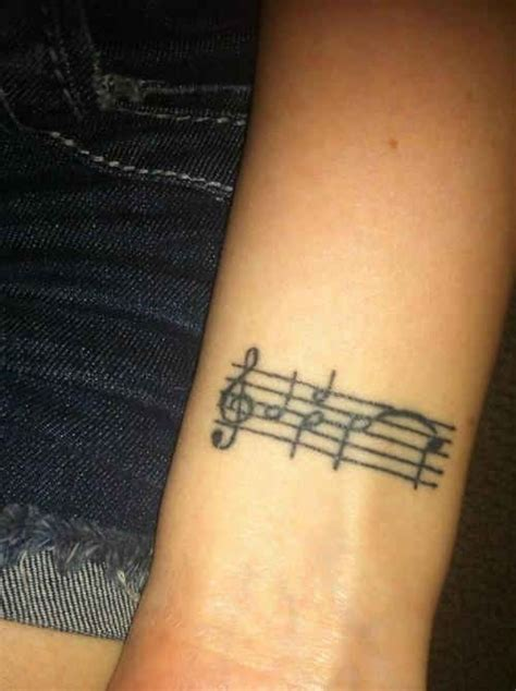 simple music tattoos black simple note tattoomagz