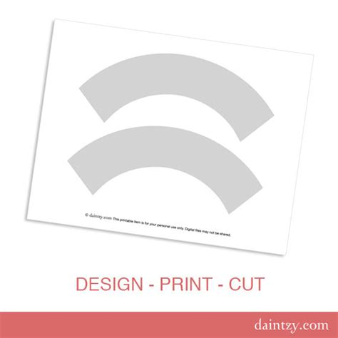 cupcake design template instant cupcake wrapper template printable by
