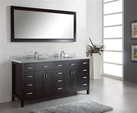 Double Sink Vanity Application for Spacious Bathroom