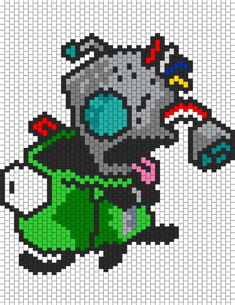 Pattern Zombie | zombie gir bead pattern peyote bead patterns misc bead