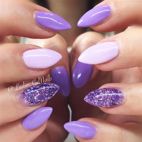 Purple Pattern Nails | 27 trendy purple nails looks to consider