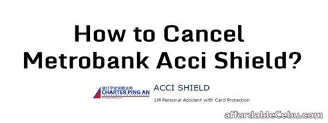 Metro Bank Letter Of Credit How To Cancel Metrobank Acci Shield Banking 30233
