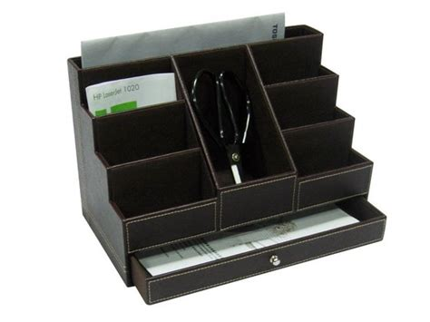 faux leather desk organizer from niva creative design ltd