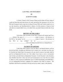 last will and testament template e commercewordpress