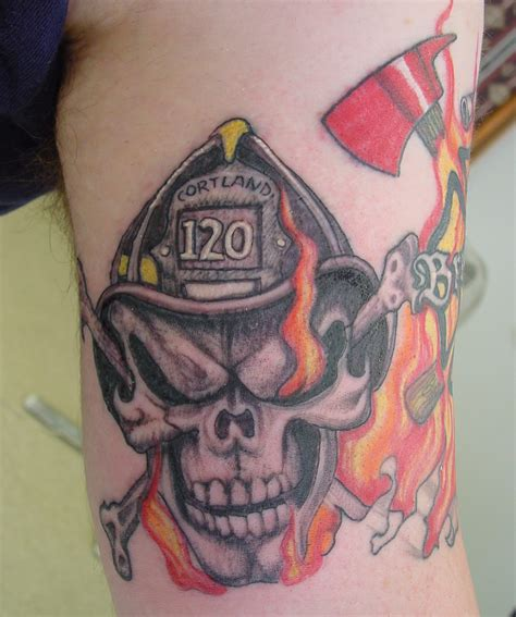 fire cross tattoos firefighter tattoos designs ideas and meaning tattoos
