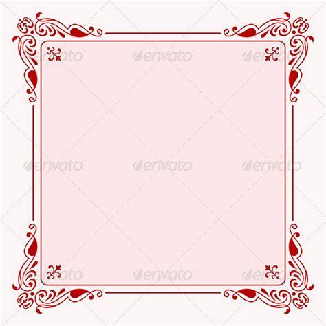 pattern undangan nikah elegant frame by barbulat graphicriver