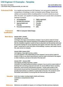 Cad Developer Cover Letter by Cad Engineer Cv Exle Learnist Org