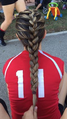 hairstyles for volleyball games perfect braid for a volleyball game volleyball hair