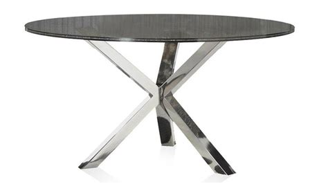 Crackle Glass Top Dining Table With Metal Base Ebth Cointet 60 Inch Dining Table Crackle Glass Zuri Furniture