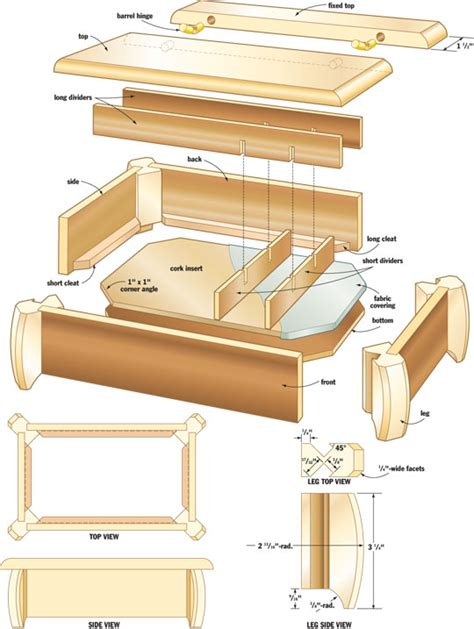 jewelry box plans easy diy woodworking projects step